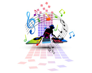 Fototapeta Do dyskoteki musica, note, suonare, festa