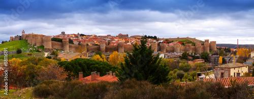 Panorama of Avila. Spain