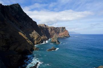 Vistas de la costa en Madeira