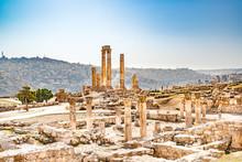 Amman Citadel In Amman, Jordan.