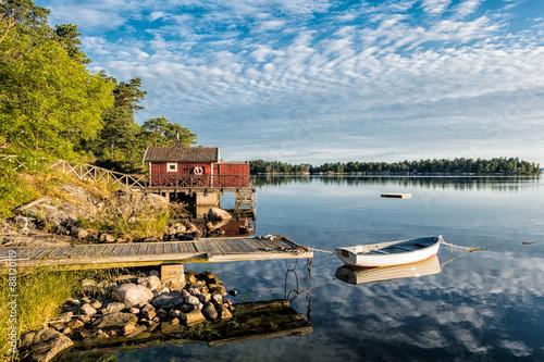 Fotografía  Scharen an der Küste Schwedischen