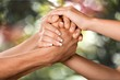 canvas print picture - Respect, Human Hand, Togetherness.