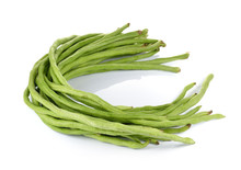 Yard Long Bean On White Background