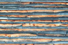 Weathered Barn Wall With Overl...