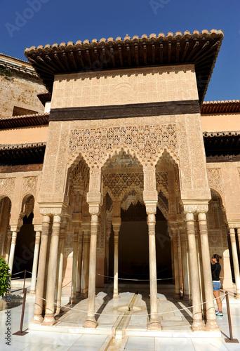 Alhambra De Granada Patio De Los Leones Andalucia Espana Buy