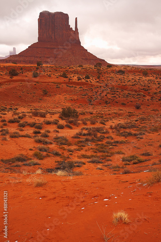 Papiers peints Rouge traffic Red Navajo Sandstone of Monument Valley