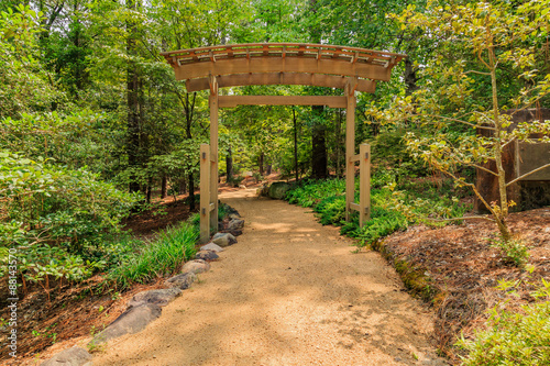 obraz PCV Garden Path Pergola
