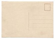 Blank Old Vintage Postcard Isolated
