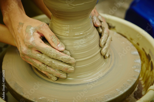 Fotografie, Obraz  Pottery making