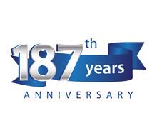 187 Years Anniversary Logo Blu...