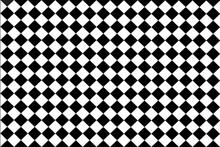 Checked  Black , White Background