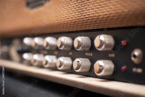 Fotomural Guitar amplifier knobs detail