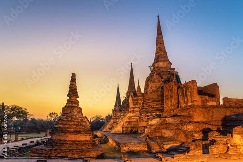 Wat Phrasisanpetch in the Ayutthaya Canvas Print