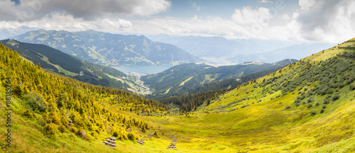 Canvas Prints Honey Austrian Alps landscape