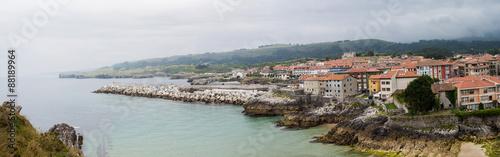 Panoramic view of Llanes, Asturias.