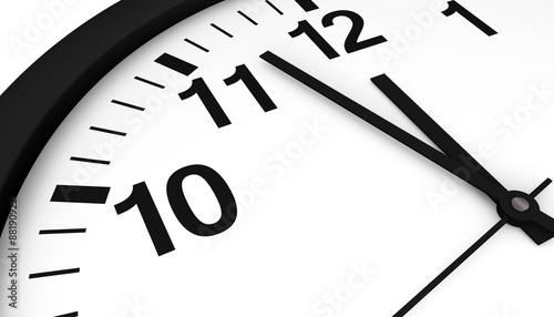 Obraz na płótnie Clock Almost Midnight