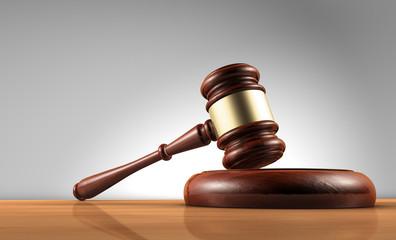 Fototapeta samoprzylepna Law Judge And Justice Symbol