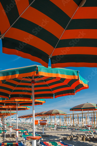 Rimini beach, Italy Canvas Print
