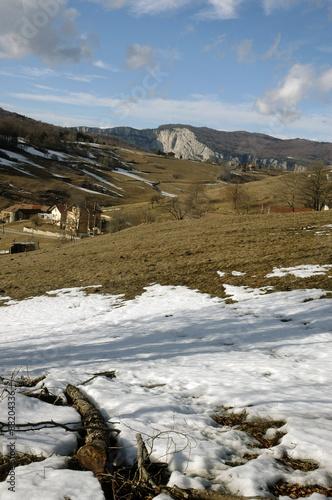 Poster Le plateau en hiver, Parc naturel régional du Vercors, 38, Isere, Region Rhone A