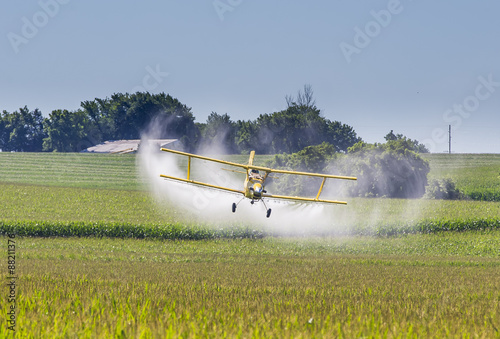 Yellow Crop Duster Canvas-taulu