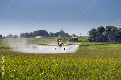 Obraz na plátne Yellow Crop Duster