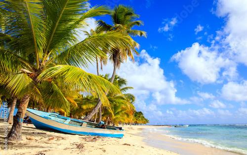 Foto op Plexiglas Caraïben Caribbean beach in Dominican Republic