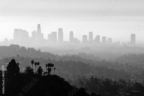 Zdjęcie XXL LA Smog and Fog Black and White