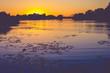 Beautiful Sunset at the Lakeshore