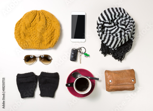 Fotografering  collection of woman accessories
