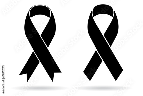 Mourning and melanoma support symbol Wallpaper Mural