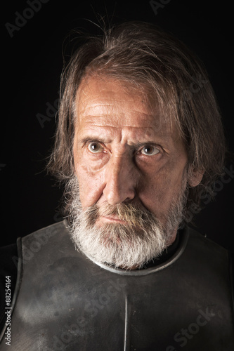 Photo  old bearded warrior