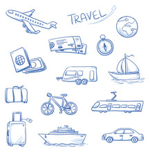 Icon Set Travel Holidays, Vaca...