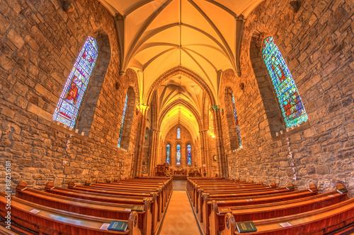Fotografie, Obraz  Medieval church Highlands