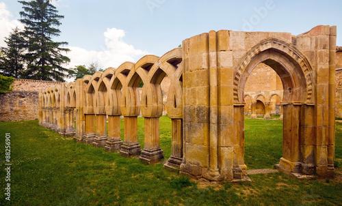 courtyard of Monastery of San Juan de Duero at Soria