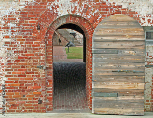 Fotografie, Tablou  Doorway at Fort Macon, North Carolina