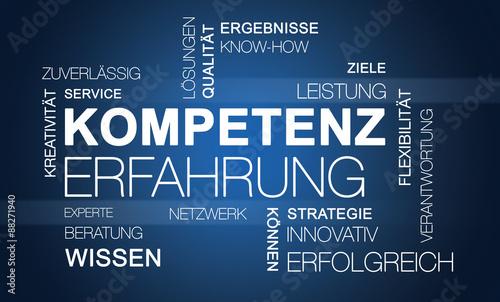 Fotografía  Word Cloud Kompetenz Erfahrung Business