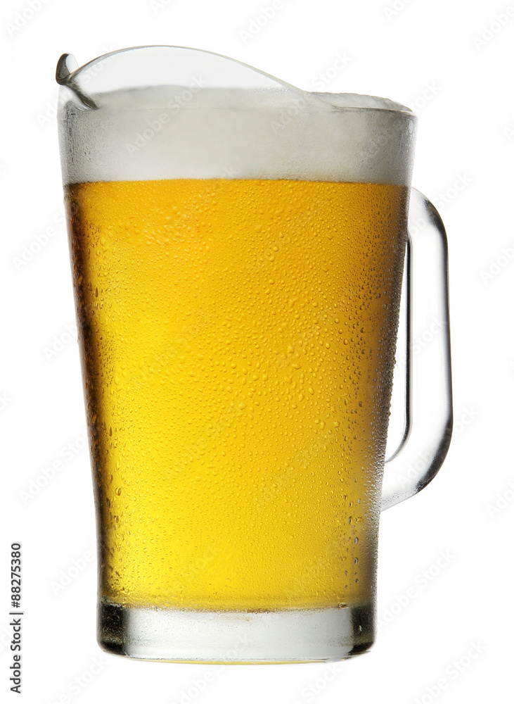 Fototapety, obrazy: Pitcher of Beer with Foam