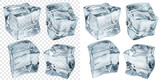 Light blue ice cubes. Transparency only in vector file