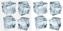 Light Blue Ice Cubes. Transpar...