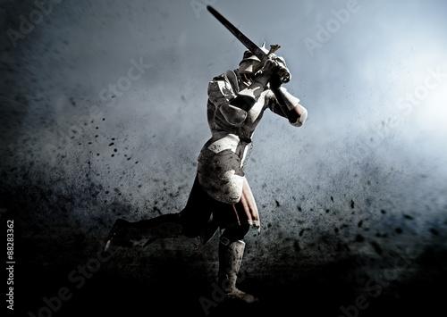 Foto  medieva warrior in the battle