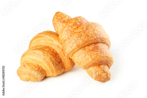 Tasty croissants isolated on a white Fototapete