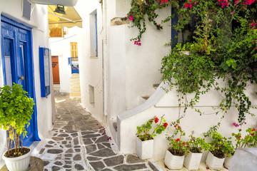 Fototapeta Uliczki old town on Naxos island, Cyclades, Greece
