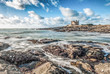 Leinwandbild Motiv Beautiful clouds and waves in Quiberon, Brittany, West France