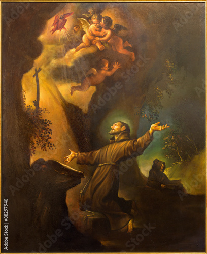 Fototapeta Cordoba - paint of The Stigmatization of St. Francis of Assisi