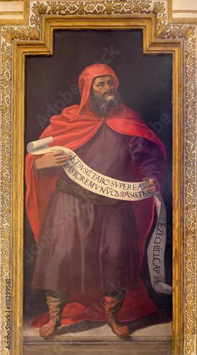 Photo  Cordoba - fresco of prophet Ezekiel in church Iglesia de San Augustin