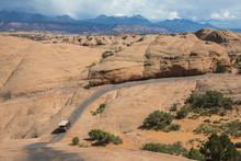 Hummer Driving On The Slickrock Trail, Moab, Utah