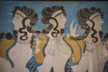 The Ruins Of Knossos, The Largest Bronze Age Archaeological Site, Minoan Civilization, Crete, Greek Islands, Greece