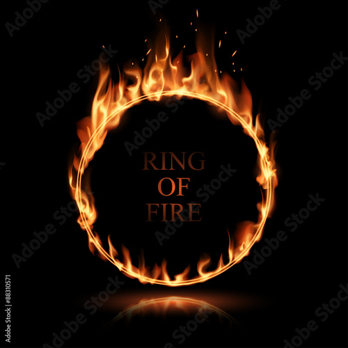 Fire ring Canvas Print