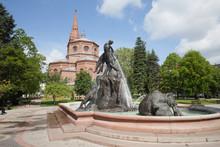 The Deluge Fountain In In Bydgoszcz
