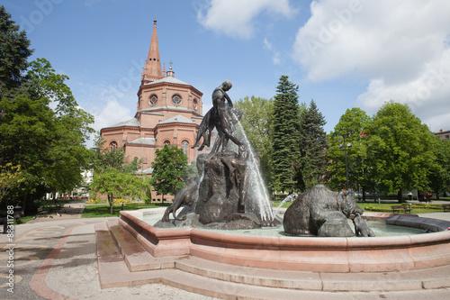 Obraz Fontanna Potopu w Bydgoszczy - fototapety do salonu